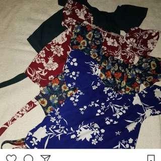 Floral Off shoulder w/ tie knot