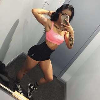 LORNA JANE™️ XS Fluro Pink Scallop Sports Bra (FRE shipping)
