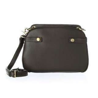 Loey Leather Double Shoulder Bag