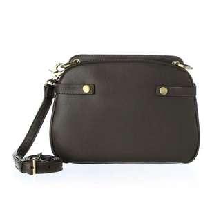 Loey Leather Double Shoulder Bag