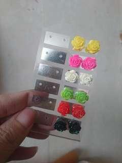 TAKE ALL- Multi-colored flower earrings