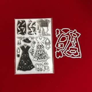 Fashion clothes Scrapbooking clear stamp & Cutting Dies