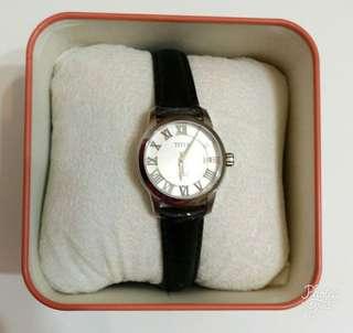 全新鐵達時Titus女裝皮帶自動腕錶