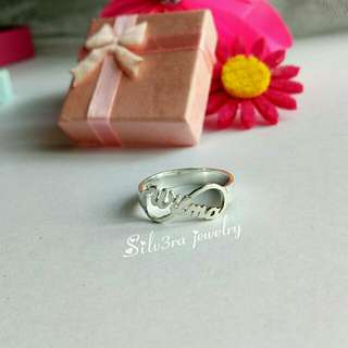 Authentic 925 Italy silver personalized rings
