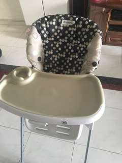 Baby High Chair- strong frame. Can hold upto 15kg