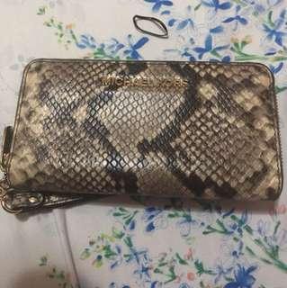 *Authentic* Michael Kors Jet Set Embossed Leather Python Continental Wristlet