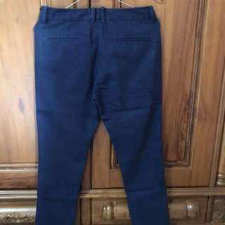 Celana Excecutive Slim and Ankle fit Navy Blue