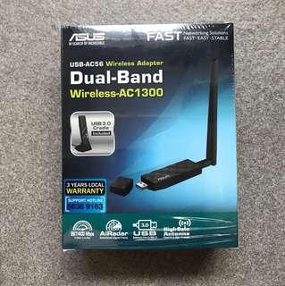 Asus USB AC56 wireless adapter dual band wireless AC1300
