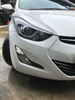 Drl and Headlamps Low beam to white lights for Hyundai Elantra