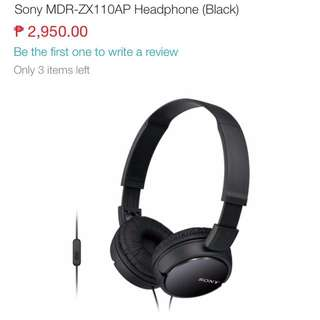 Sony Stereo headphones MDR-ZX110AP