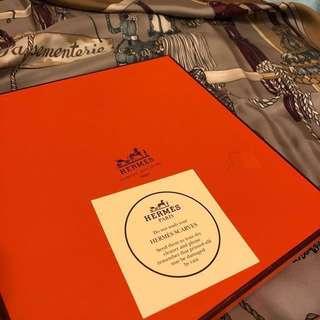 🚚 🇫🇷Hermès 100% Silk經典流蘇圖案絲巾