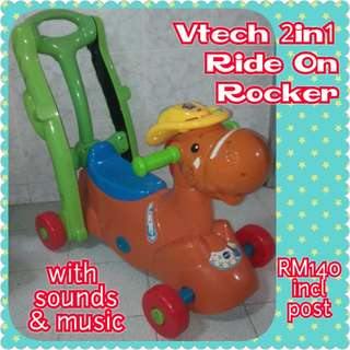 Vtech 2in1 Pony Ride On Rocker with Push Handle