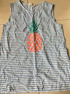 Pineapple sleeveless T