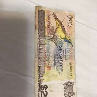 $20 Old notes