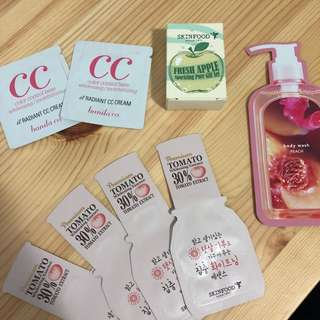 K-Beauty Samples— Skinfood, Banila Co, Nature Republic