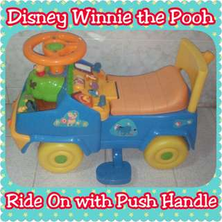 Disney Winnie the Pooh Ride On with Parent Push Handle