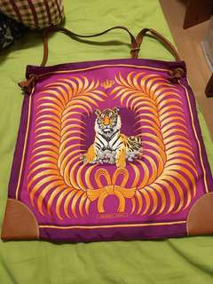 Hermes silk city bag