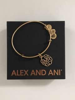 Alex and Ani Goldtone Charm Bangle Bracelet