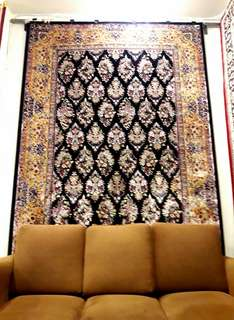 Stunning silk carpet from iran 2x3