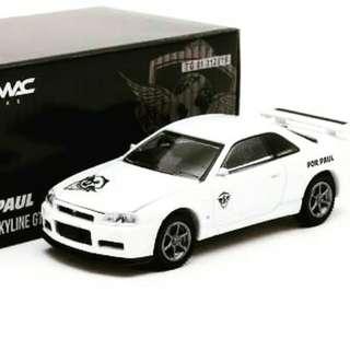 Tarmac Nissan Skyline Paul Walker tribute Limited