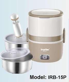 Imarflex 伊瑪 1.5公升抽真空雙層保溫蒸飯盒-全新