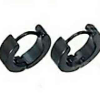 Unisex Stainless Steel Round Hoop Earrings