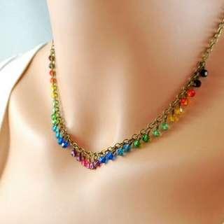 Handmade Classy Antique Style Swarovski Crystal Necklace