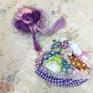 Pullip Blythe 紫女郎套裝 連頭飾