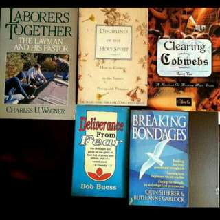 5 Disciplines Of The Holy Spirit Siang-yang Tan Clearing Cobwebs Tony Tan Laboures Together Charles Wagner Breaking Bondages Quinn Herrera Garlock Deliverance From Fear Bob Buess (Tag Bible Christian Precious Stanley Stormie Meyer Purpose  Stanley )