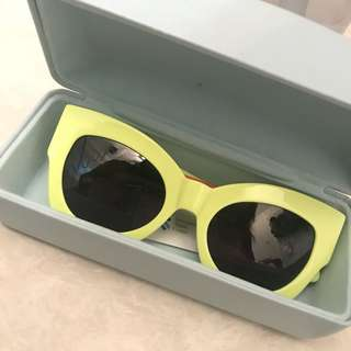 Karen Walker Neon Yellow Sunglasses Shades Fashion sunnies 營光黃太陽眼鏡