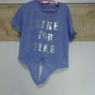 """""""Like For Like"""" Tie Front Tee"""