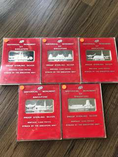 Singapore 1979 Silver Proof Ingots Set