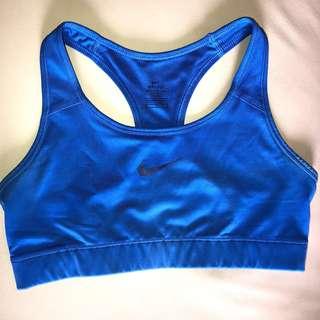 Nike Crop Top (Sports Bra) - M (Royal Blue)