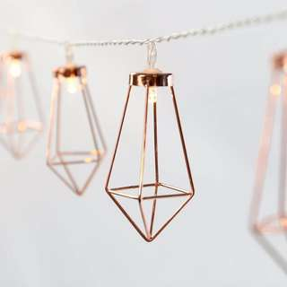 Diamond Fairy Lights Battery Operated String Lights Geometric Shape