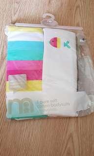 Bn Mothercare sleeveless bodysuit