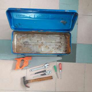 Metal Toolbox Made In Japan With Free Tools