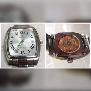 SANDOZ Automatic watch  Size 35mm with crown 38mm  95% new With original leather box  Made in Swiss