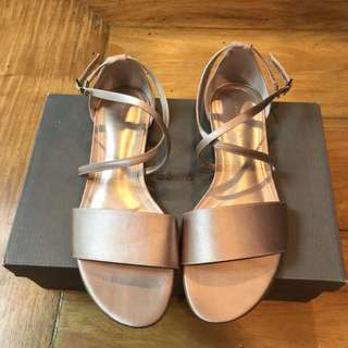 Authentic Pre-owned Charles & Keith Flats / Open Toe / Sandals Pink