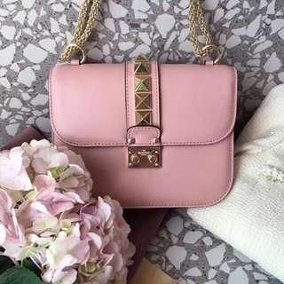Valentino Rock Shoulder Bag in Blush Pink