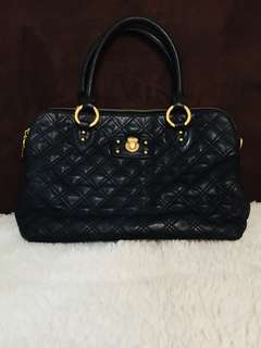 Authentic Marc Jacobs Quilting Standard Leather Satchel in Black