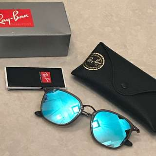 Rayban General RB3561 blue grey sunglasses sunnies gift for him menswear 反光藍色灰框太陽眼鏡 made in italy