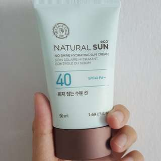 The face shop no shine hydrating sun cream