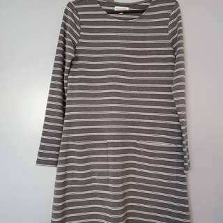 Padini long sleeve strips dress