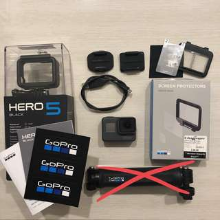 GoPro Hero 5 Black (extension grip SOLD hence NOT included!)