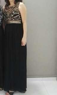 Preloved Black evening Gown