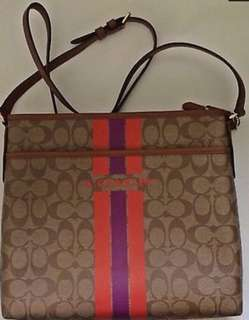 Authentic Coach File Stripe Bag