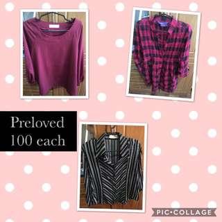 Preloved tops