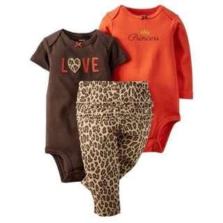 3pieces baby gilr clothes set
