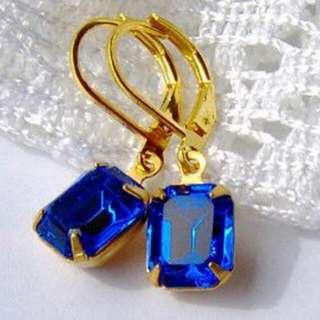 Classy Swarovski Rhinestones Earrings