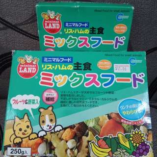 MARUKAN JAPAN BLEND HAMSTER MAIN FOOD MIXED 250g